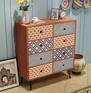 Image Is Loading Vintage Sideboard Retro Storage Cabinet Metal Leg