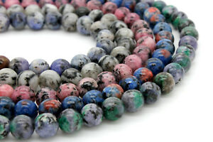 Jasper-Dye-Jasper-Smooth-Round-Ball-Sphere-Gemstone-8mm-Loose-Beads-Full-Strand
