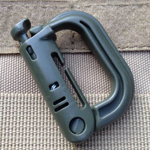 2X Tactical Grimloc Safe Buckle Molle Locking D-Ring Carabiner Edc Webbing JDUK