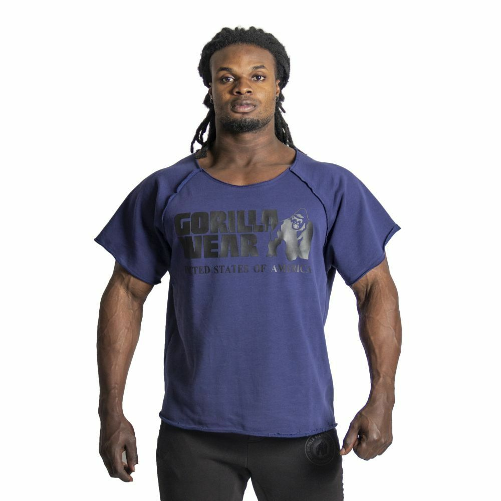 Gorilla Wear Classic Work Out Top Navy
