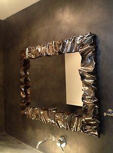 Cornice design specchio foto ferro battuto con o senza led personalizzata 850 ebay - Cornici a specchio ...