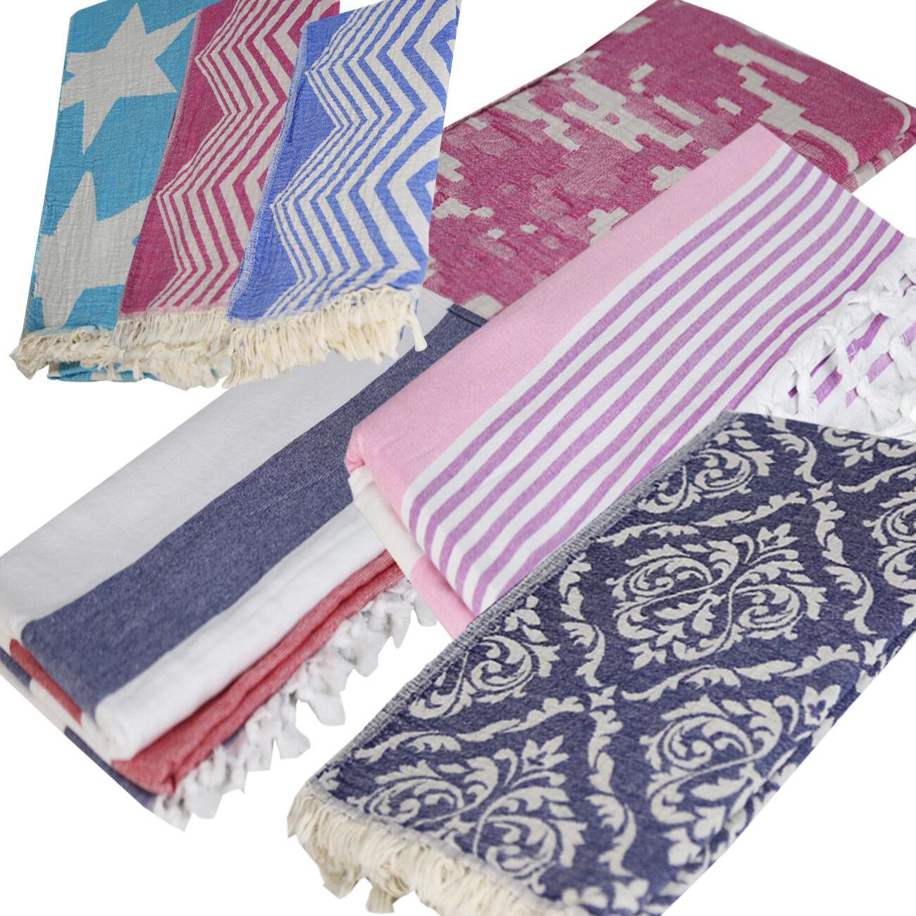 Beach Towel: TURKISH Super Soft Double Face Peshtemal Towel Hamam Sauna