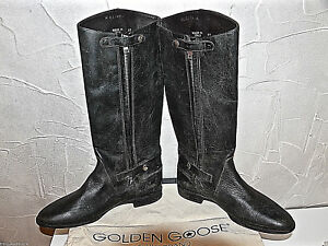 Leather-Boots-Old-Fashioned-Black-golden-goose-Japan-Size-37-UK-4-New-Box-Value