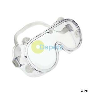 3x-Lunettes-de-Securite-Protection-des-yeux-Lunettes-de-travail-industriel-clair-laboratoire-U24