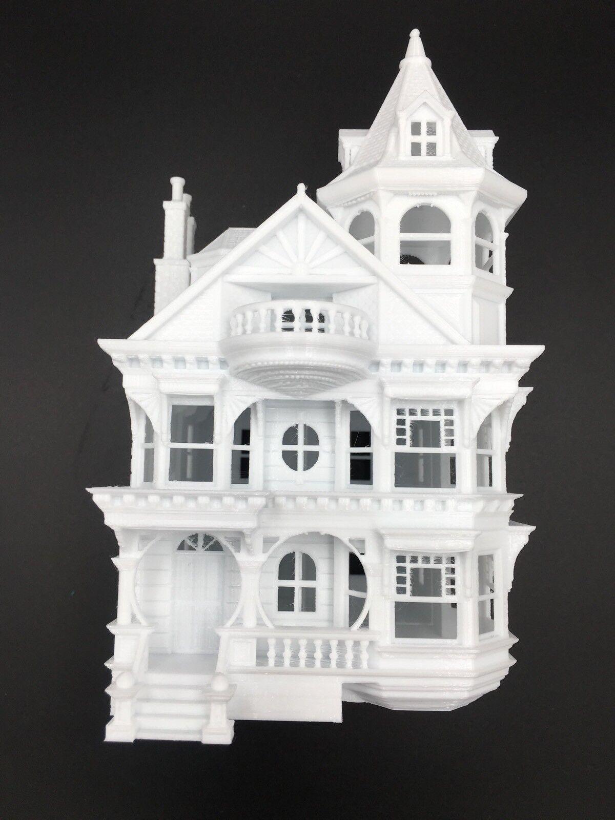 estilo clásico Miniatura Queen Queen Queen Anne VICTORIANO TREN CASA  3 blancoo Escala Ho Maqueta De Tren  genuina alta calidad