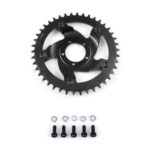 Black Bafang 42T 44T Chainwheel Chain Ring Crankset and Replacement Chain Guard