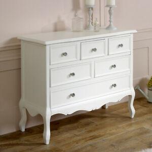 Groß Weiß Kommode Klassisch Französisch Schlafzimmer Möbel Kleidung