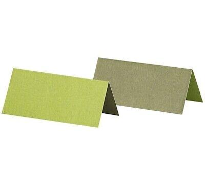 25 Stk Tischkarten grün hellgrün Platzkarten Namensschilder Hochzeit Namenskarte