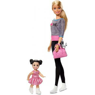NEW Barbie Ice-Skating Coach and Student Doll with Turning Mechanism