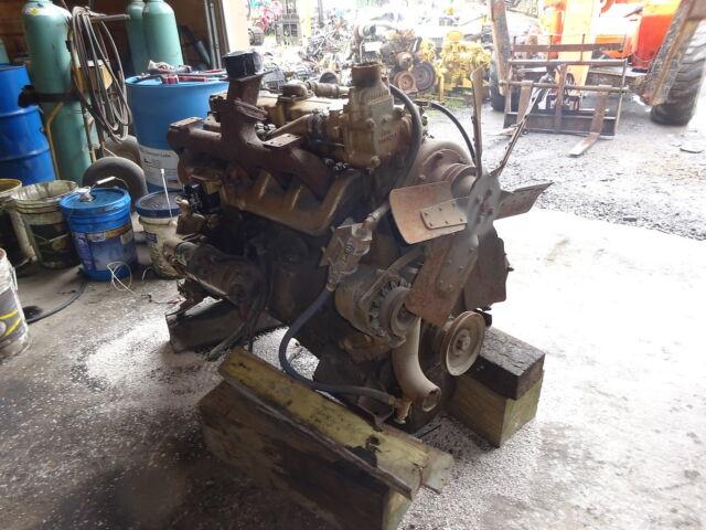 Hercules White D4800 Diesel Engine RARE! 6 Cyl Generator Power Unit D-4800