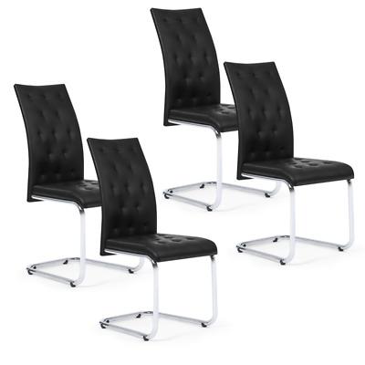Lot de 4 chaises MIA capitonnées noires pour salle à manger | eBay