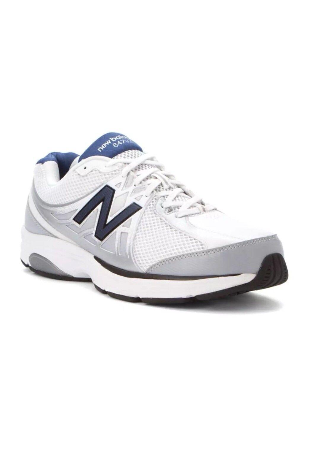 U18 New NWT New Balance 847 Weiß Blau Walking Walking Walking schuhe Turnschuhe herren Größe 7 19f055
