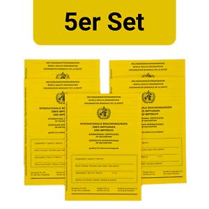5 Stück: Internationaler Impfausweis Impfpass Impfbuch neu 5er Set International