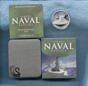 2010-1-Battle-of-Jutland-1916-FAMOUS-NAVAL-BATTLES-SILVER-PROOF-COIN-War