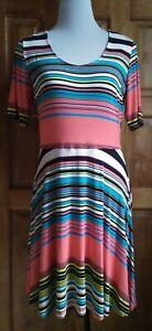 DressNStyle-NWOT-Branded-Designer-Multi-Colored-DECREE-Casual-Formal-Dress-Large