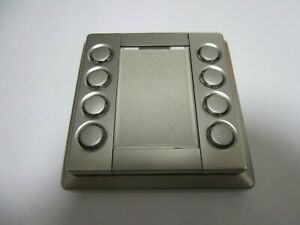 Rahmen Merten EIB KNX Instabus Taster 4 fach Aluminium Front  6226 Artec K6