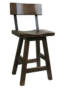 Pleasing Details About 24 Rustic Barn Wood Bar Stool Saddle Seat With A Back Amish Made In Usa Evergreenethics Interior Chair Design Evergreenethicsorg