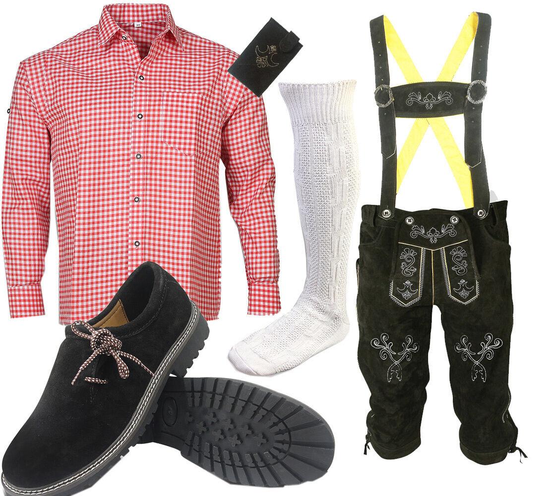 men Pantaloni di pelle Set Costume Tradizionale Bavarese Camicia shoes Calzini