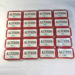 Lot-of-20-Empty-Altoid-Tins-Red-Crafts-first-aid-storage-crafts