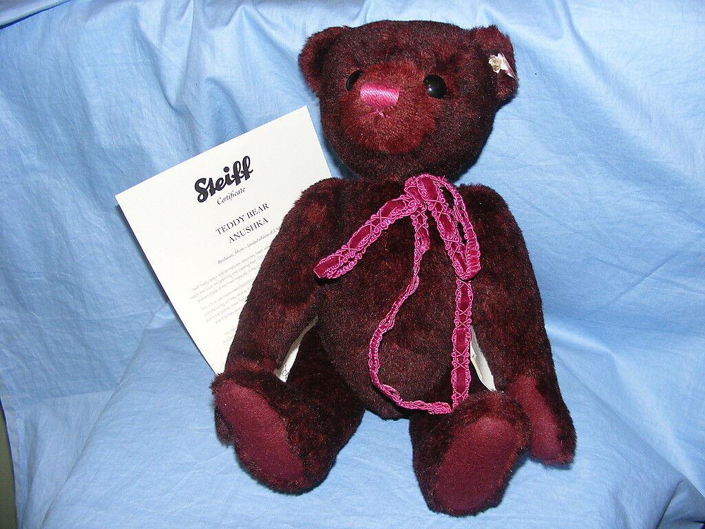 Steiff Teddybär Anushka - Bordeaux - EAN 034800 Limitierte Auflage