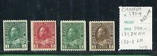 CANADA  #131 -134 (131,134 NH/132,133 LH) HORIZONTAL PERF KING GEORGE V - S8119