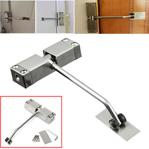 Image is loading Adjustable-Automatic-Strength-Spring-Door-Closer-Hinge -Fire-  sc 1 st  eBay & Adjustable Automatic Strength Spring Door Closer Hinge Fire Rated ...