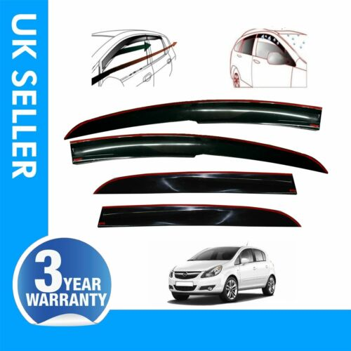 4X Wind Smoke Rain Deflectors Heavy Duty Fits Vauxhall CORSA D 2006-2015