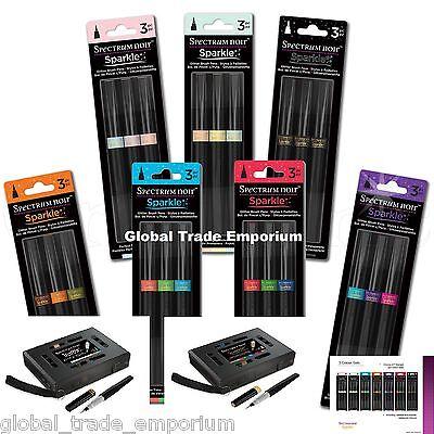 3 Piece Spectrum Noir Sparkle Glitter Brush Pen Winter Warmers