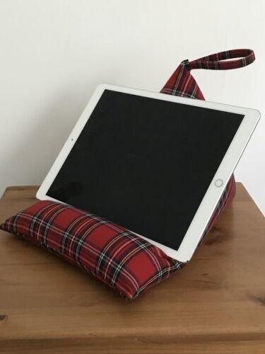 Handmade iPad Pro 12.9// iPad Beanbag Stand Cushion Tartan New