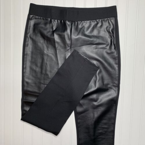 Nydy Leggings Womens Technology 12 Front Lift Tuck Size Leather Black Faux 1q1OwW4fRr