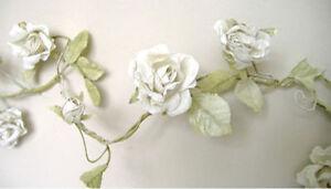ROSE-GARLAND-CREAM-FLOWER-WEDDING-SHABBY-CHIC-6FT