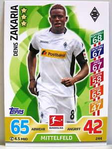 Match Attax 2017//18 Bundesliga Borussia Mönchengladbach #248 Vincenzo Grifo