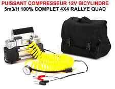 CAMPING CAR CARAVANE REMORQUE BATEAU 4X4 COMPRESSEUR 12V 5m3/H RARE BICYLINDRE