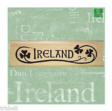 IRELAND Rubber Stamp * Irish Scrapbooking St. Patrick's Day Crafts Shamrocks