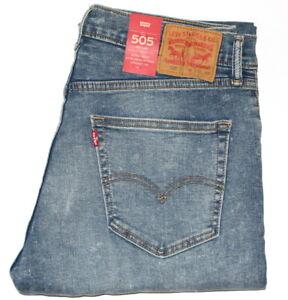 Original Regular Jeans Levis 505 Corte Recto Denim Para Hombre W28 42 L29 36 Rrp 85 Ebay