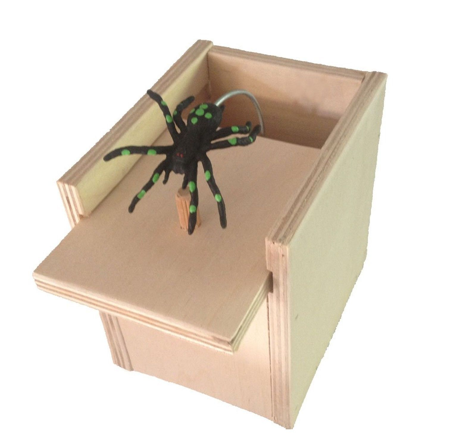 10 Hilarious Scare Boxes Spider Prank - Wooden Scarebox Amish Made Bulk Lot
