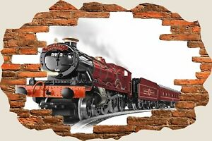 3D-Hole-in-Wall-Hogwarts-Express-View-Wall-Stickers-Mural-Art-Decal-Wallpaper-81