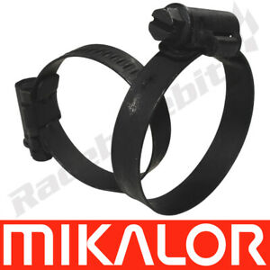 Mikalor Black 430 Stainless Steel Jubilee Clamps Box of 40 Worm Drive Hose Clips