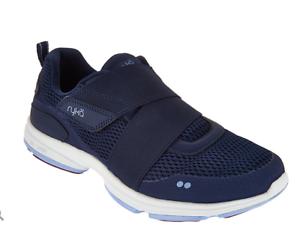 Ryka Mesh Slip-On Sneakers with Strap Detail - Devotion Cinch Navy bluee 6W
