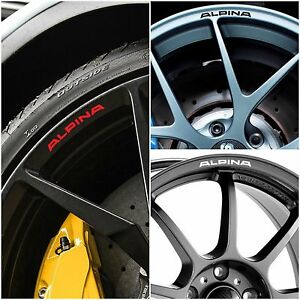 BMW ALPINA Rims Alloy Wheels Curved Decals Stickers Series - Alpina rims bmw