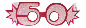 PINK-50TH-BIRTHDAY-AGE-GLITTERED-FOIL-SPECTACLES-PARTY-GLASSES