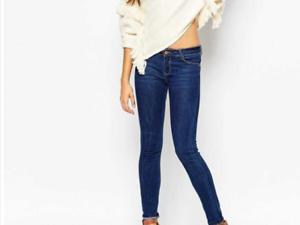 Ladies-asos-Skinny-Fit-Jeans-By-Pimkie-Blue-With-medium-waist-24-uk6-eu34-bnwt