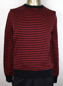 78fb93d1e Gucci Men's Black/Red Striped Cotton/Cashmere Pullover Sweater ...