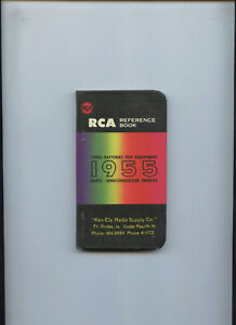 Details about RCA Reference Book 1955 Tubes Test Equipment Parts  Semiconductor Devices Battery