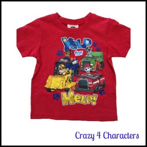 Licensed Paw Patrol Christmas Tshirt T-shirt Tee Size 2 Xmas Birthday Party