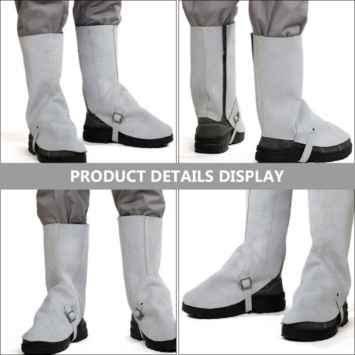 1 Pair Leather Flame Retardant Leather Welding Spats Welding Spats Shoes Cover