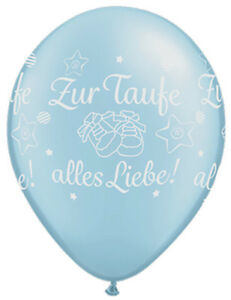luftballons zur taufe alles liebe blau 5 st taufe deko neu ebay. Black Bedroom Furniture Sets. Home Design Ideas