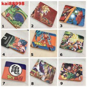 9154a02321fc Details about Dragon Ball Z Bi Fold Wallet Super Saiyan Son Goku leather  Purse Wallet 17 Style