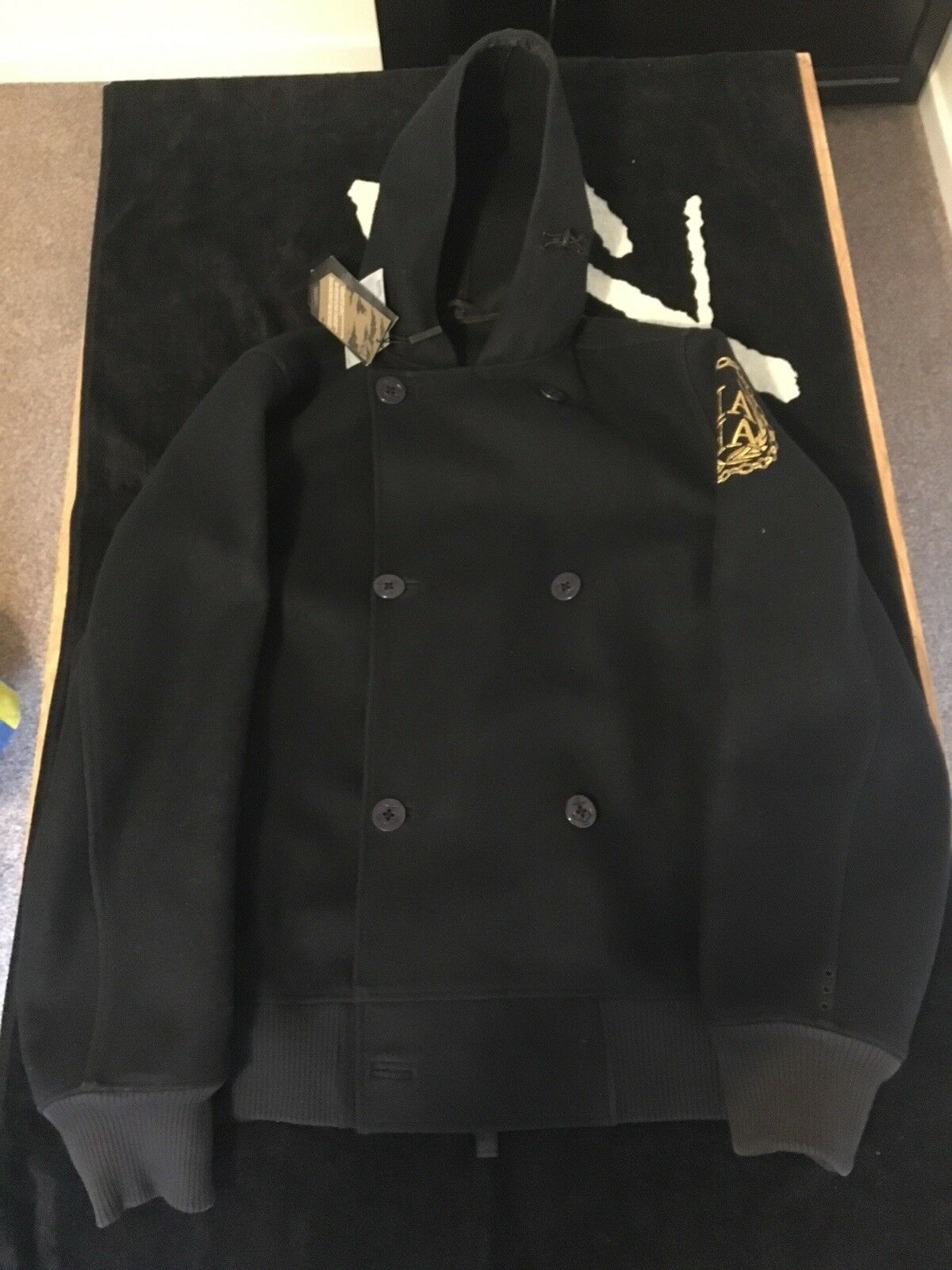 Maharishi Embroidred Peacoat XL New With Tags