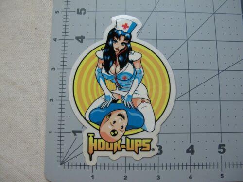 nurses vtg 1990s 2000s Hook-Ups skateboards sticker